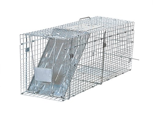 TMS 32in. x12in. x10in. Humane Animal Trap Small Live Rodent Control Steel Cage Opossum Rat