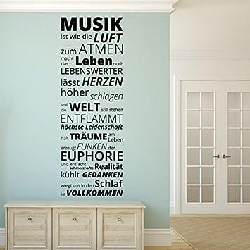 Denoda Musik Ist Wie Die Luft Zum Atmen Wandtattoo Silber 25 X 72