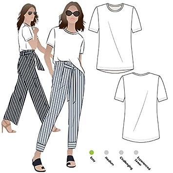 Amazon Style Arc Sewing Pattern Gem Knit Tee Sizes 04 16