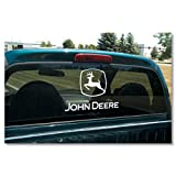 John Deere Logo Cutz Window Cling