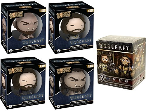 Funko Warcraft Dorbz 4-pack King Llane / Durotan / Lothar / Orgrim + Mystery Minis Set Blind Box Vinyl Figures