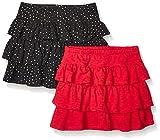 Amazon Brand - Spotted Zebra Girls' Toddler & Kids 2-Pack Knit Ruffle Scooter Skirts