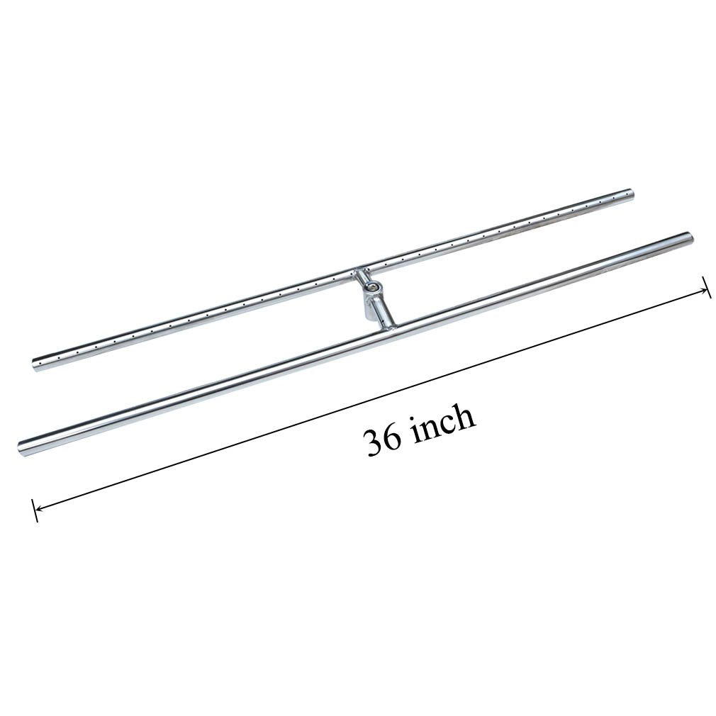 Stanbroil Rectangle Natural/Propane Gas Fire Pit H-Burner, 36 x 6-Inch, 304 Series Stainless Steel