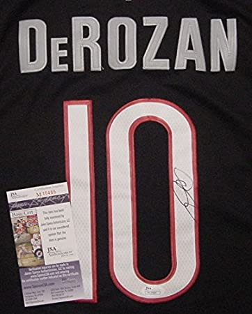 DeMar DeRozan Toronto Raptors Autographed Black  10 Jersey JSA COA at Amazon s  Sports Collectibles Store 1d0dc797c