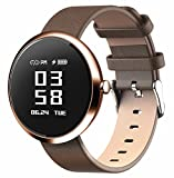 DSMART H2 Smartwatch Wristband & Bracelet Bluetooth Sports Watch Fitness Activity Tracker with Precise Germany Sensor for Heart Rate/Blood Pressure Monitor/Pedometer Steps Calories Counter (Brown)