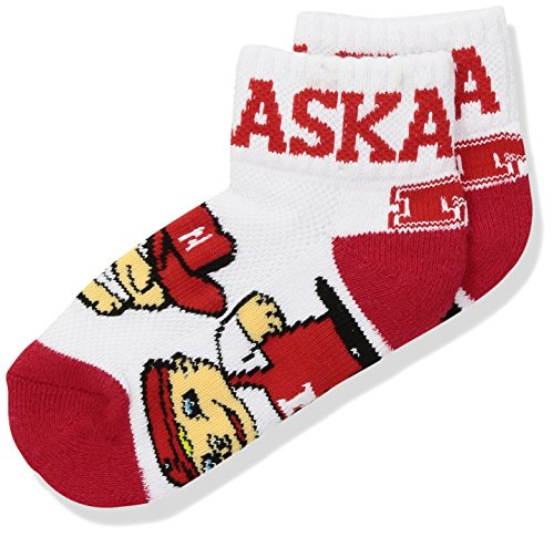 Donegal Bay NCAA Nebraska Cornhuskers Youth QTR Socks, Red, 3-5 Years ()