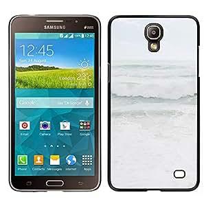 // PHONE CASE GIFT // Duro Estuche protector PC Cáscara Plástico Carcasa Funda Hard Protective Case for Samsung Galaxy Mega 2 / Grey Stormy Seas Weather Ocean Coast /