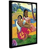 Paul Gauguin's Nafea Faaipoipo, When Are You Getting Married?, Gallery-Wrapped Floater-Framed Canvas 24X32 Paul Gauguin Nafea Faaipoipo, When Are You Getting Married?, Gallery-Wrapped Floater-Framed Canvas is a high-quality canvas print depicting two...