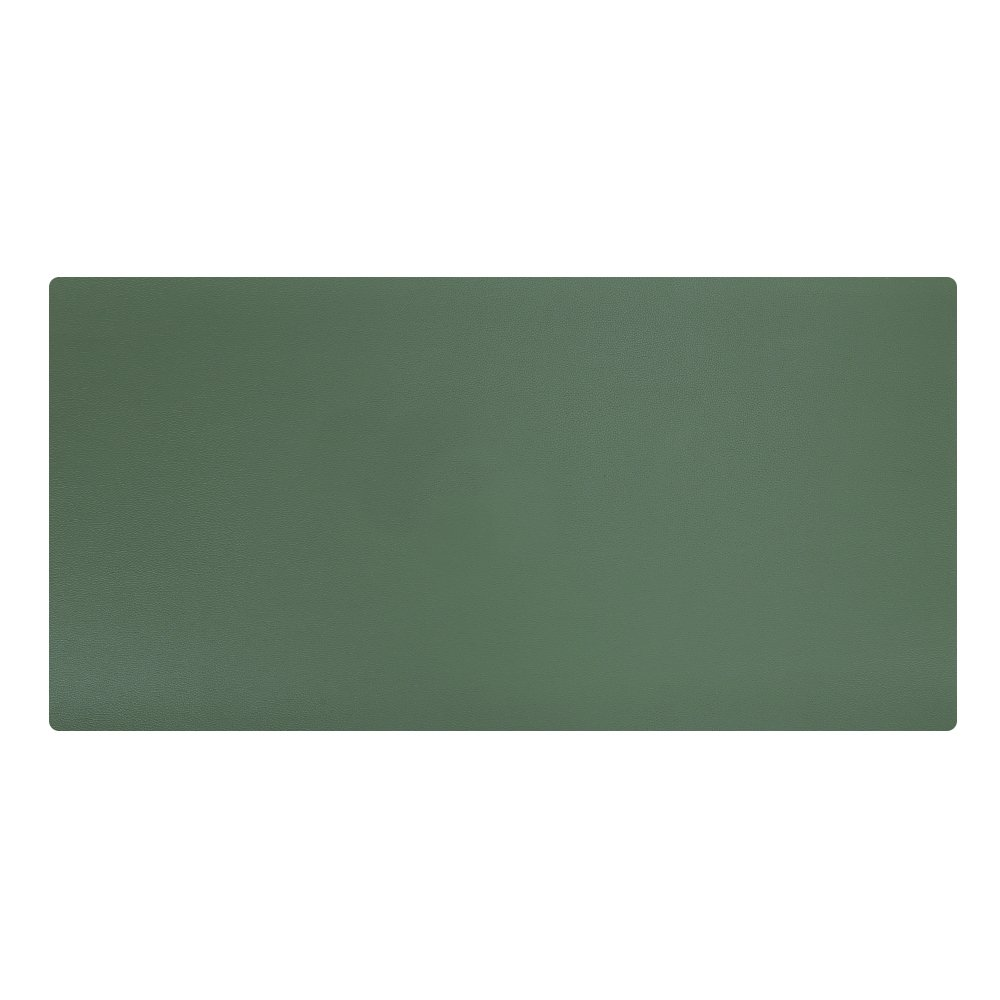 KINGFOM Desk Mat Pad Blotter Protector 31.4'' x 15.7'', PU Leather Desk Mat Laptop Keyboard Mouse Pad with Comfortable Writing Surface Waterproof (Green)
