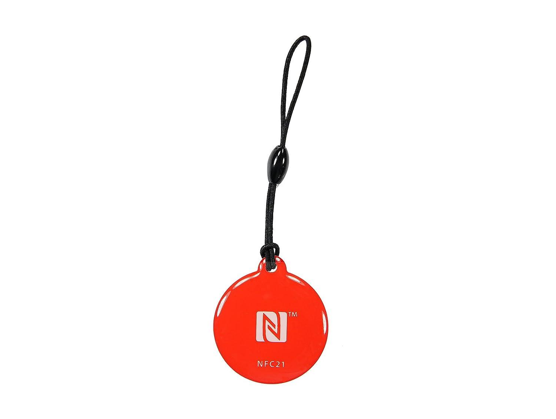 5 NFC Tag Pegatina, 40 x 32mm, NXP NFC Chip, 924 Byte, Ideal para Dispositivos de/Control de Perfil (WiFi, Bluetooth, Aplicaciones) - con Todos los ...