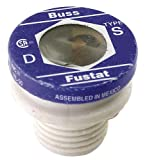 Bussmann S-1-6/10 1-6/10 Amp Type S Time-Delay Dual-Element Plug Fuse Rejection Base, 125V UL Listed, 4-Pack