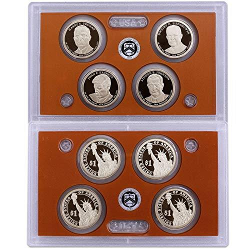 2015 S Presidential Dollar Proof Set 4 Coins US Mint No Box or COA Gem Deep Cameo