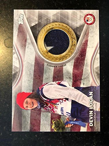 2018 Topps US Winter Olympics Team USA Memorabilia Pieces Silver #TMC-DL Devin Logan MEM Freestyle Skiing from US Winter Olympics