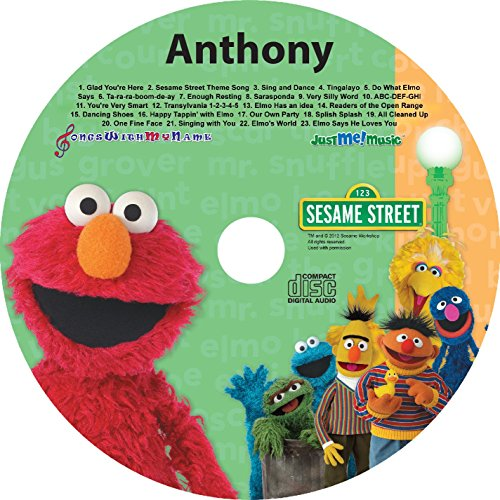 "Children's Personalized SONGS WITH MY NAME - - SING ALONG WITH ELMO AND FRIENDS - - Music CD and ""NEW"" Digital Content Is HERE! - -"