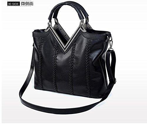 Sac À Europe Meaeo Fashion Pochette Cuir Black Gray En Pour Main Diamants De Fan Femme Sac En Bandoulière Nouveau wwCBqz5H