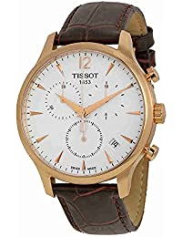 Men's T0636173603700 Tradition Analog Display Swiss Quartz Brown Watch