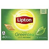 Lipton Green Tea Bags, Natural 40 ct, Pack of 6