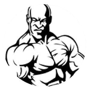 alfombrilla de ratón Culturismo y powerlifting - ilustración vectorial. - ronda - 20cm