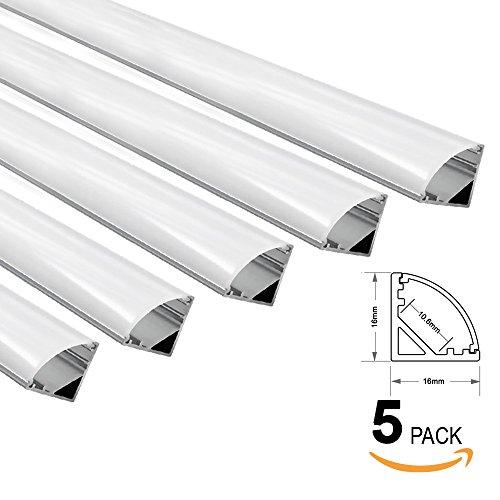 5 PACK of 1M/3.3ft V-Shape Aluminum Channel for