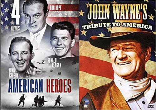 Sweet Land Tribute to America John Wayne Special & American Heroes Movies This is Army Reagan / Santa Fe Trail / Road to Bali Bing Crosby / My Favorite Brunette Bob Hope by
