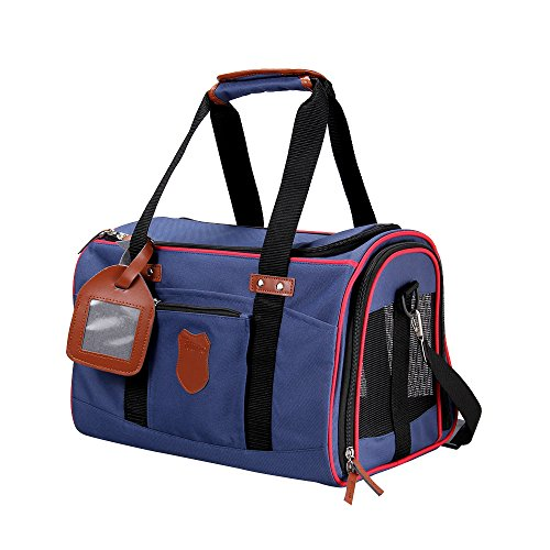 Travel Pet Carrier - Soft Sided Pet Carriers Comfortable Carrier Adjustable and Foldable Airline Approved Pet Travel Carrier