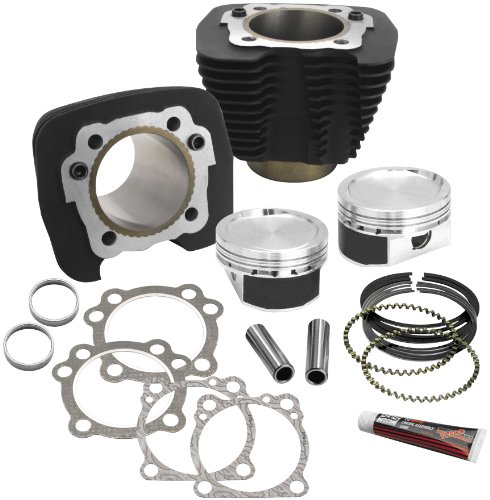 S&S 3.5 in. bore Cylinder and Piston Conversion Kit for Harley Davidson 1986-2013 Sportster models - 3.5 - Conversion 1200