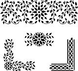 Designer Stencils Indian Inlay Stencil Details (10 mil Plastic)