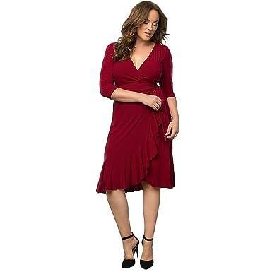 ed47b666ae44c0 OVERMAL Große Größen Damen Kleider Damen Kleider Festlich Damen Kleider  Lang Kleid Damen Elegant Damen Kleider Elegant Große Größen Kleider Große  Größen ...