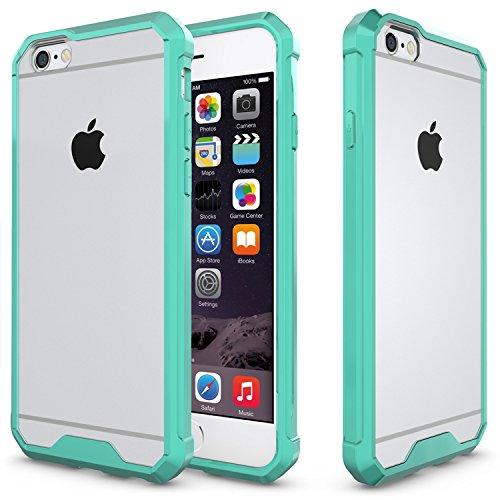 Meimeiwu Hohe Qualität TPU + Acrylic Bumper Crystal Clear Schutzhülle Protective für iPhone 6 6S - Grün