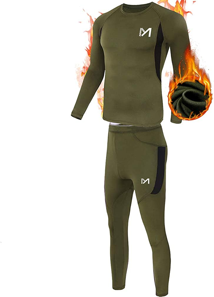 Men's Thermal Underwear Set, Sport Long Johns Base Layer for Male, Winter Gear Compression Suits for Skiing Running at  Men's Clothing store
