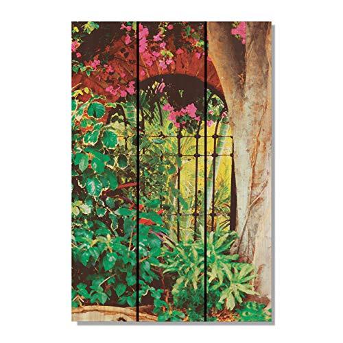 Cheap  Gizaun Art Spanish Garden 16-Inch by 24-Inch Inside/Outside Wall Art, Full Color..