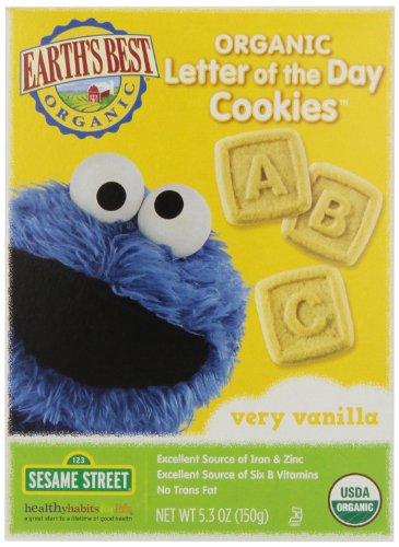 Earth's Best Sesame Street Cookies, Vanilla, 5.3 oz -