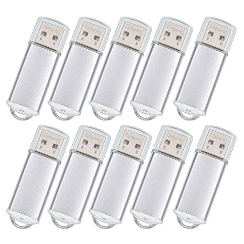 20 Pack 128MB Small Capacity Flash Drives - Datarm Silver Memory Stick - Portable Jump Drive