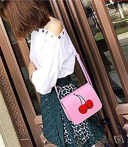 Móvil Beige Tamaño Eeayyygch Rosado Xiekua Hombro Lady Del Bag De Bolso color Teléfono Coreano Messenger Retro Moda Pequeño OxZHaqO