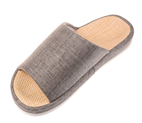 bronze-times-tm-unisex-four-season-indoor-cotton-flax-house-slippers-grey