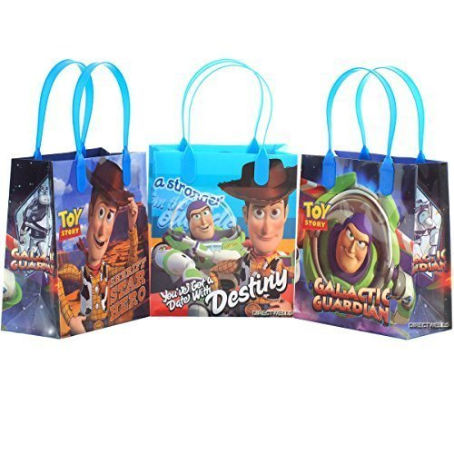 Disney Toy Story Reusable Party Favor Goodie Small Gift Bags (12 Bags) -