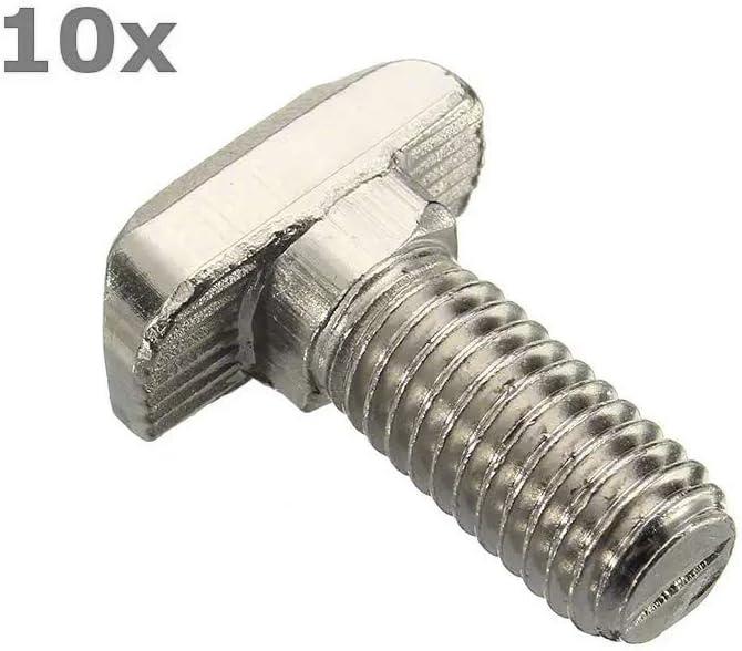 Hu 2020 Good Products M820 T-Bolt 40 Type Carbon Steel European Standard Screws 10Pcs