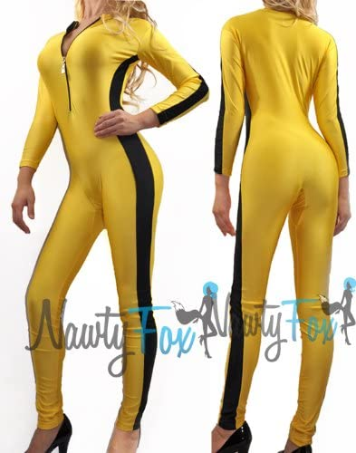 NawtyFox amarillo Kill Bill Unitard: Amazon.es: Ropa y accesorios