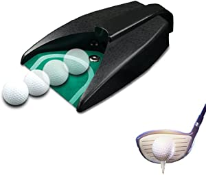 Enshey Golf Automatic Putting Cup, Golf Return Machine for Training Indoor Office, Golf Hole Auto Returning Practice for Outdoor Garden Lawn