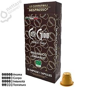 10 capsule Caffè miscela 100% Arabica BIOLOGICA compatibili NESPRESSO* Caffè Gioia