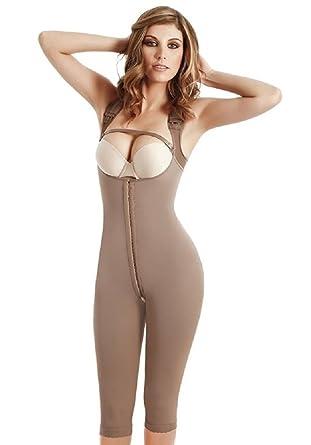 e4e4da74e2fa5 Amazon.com  Fajas Colombianas Fajate CYSM 454 Full Body Shaper Post-Surgery  Girdle 3 hooks (S)  Clothing