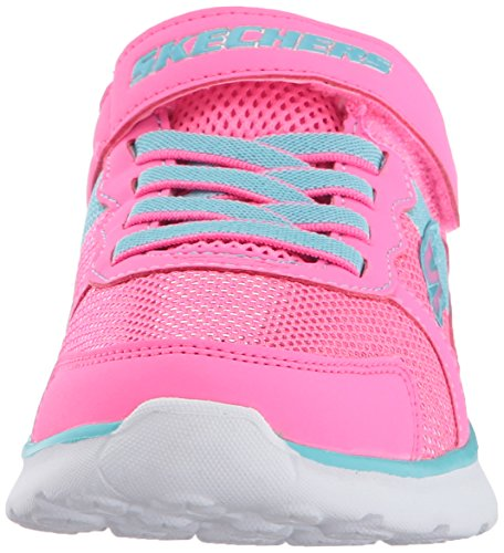 Pictures of Skechers Kids Girls' GO Run 400-Sparkle 81358L Neon Pink/Aqua 6