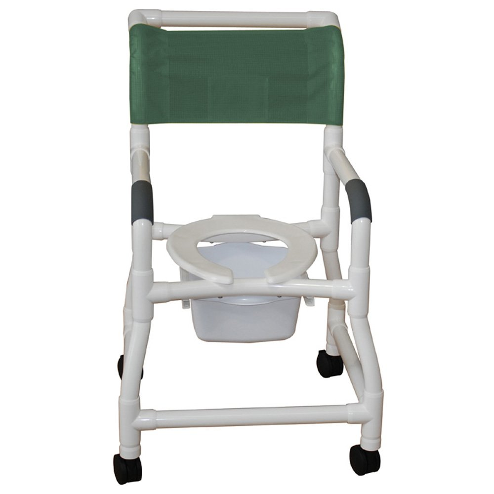 B00R9MC6E0 MJM International 118-3TW-FS-SQ-PAIL Standard Shower Chair with Flared Stability and Commode Pail, Royal Blue/Forest Green/Mauve 51vjdkREmcL._SL1000_