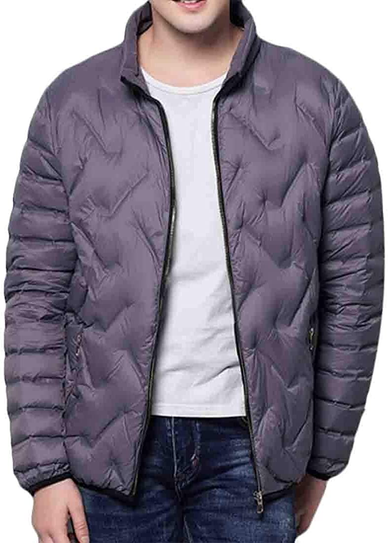 Keaac Mens Down Puffer Parka Casual Winter Thick Slim Coats Coat