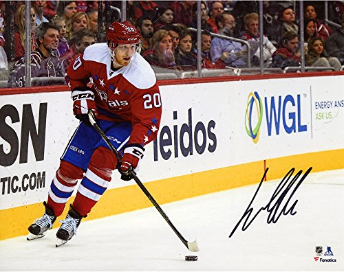 "Lars Eller Washington Capitals Autographed 8"" x 10"" Red Jersey Skating Photograph - Fanatics Authentic Certified"