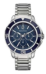 Nautica A19592G - Reloj , correa de acero inoxidable color plateado