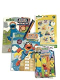 Sesame Street Elmo and Cookie Monster Paint With Water Books, Brushes, Sesame Street Play Pack and Sesame Street Stickers - Fun Pack! Water Painting Kit