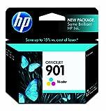 HP 901 Tri-color Original Ink Cartridge (CC656AN) for HP Officejet 4500 J4540 J4550 J4580 J4680