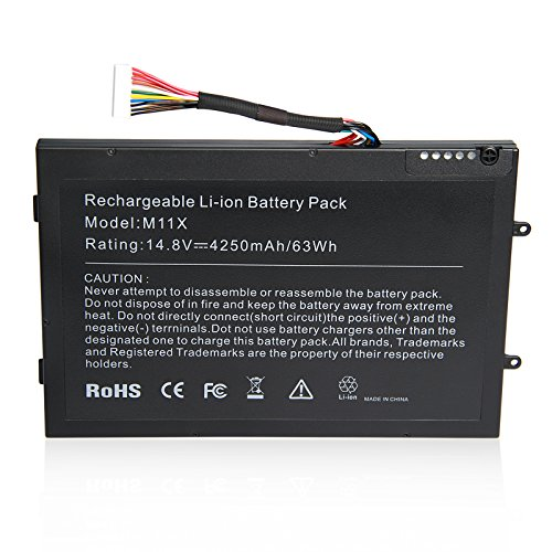 Fancy Buying New Laptop Battery for DELL Alienware M11x Alienware M11xR2 Alienware M11xR3 Alienware M14x Alienware M14xR2 Alienware P06T, P/N 08P6X6/ 0DKK25/0PT6V8/0T7YJR/PT6V8 [14.8V 4250mAh/63Wh]