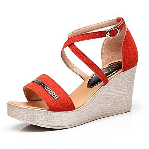 Singapur gran código con Moda sandalias de gruesas mujer romanas sandalias moda Sandalias de con Zapatillas Orange de sandalias Señoras Sandalias qAxvUwC